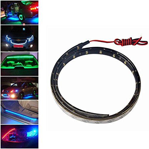 Home Green Useful Multicolor 90Cm 45 Led 3528 Smd Car Auto Flexible Strip Light Bar Waterproof