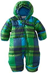 Columbia Unisex Baby Snuggly Bunting, Fuse Green Plaid, 18 Months