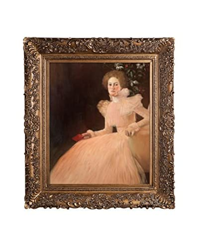 Gustav Klimt's Portrait Of Sonja Knips Framed Hand Painted Oil Canvas, Multi, 33.5 x 29.5