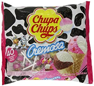 Chupa Chups Lollipops - Ice-cream Flavor (40ct. Bag) Fat Free!