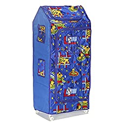 Archana Novelty Plastic Folding Kids Almirah ( 5 Shelf, Blue)
