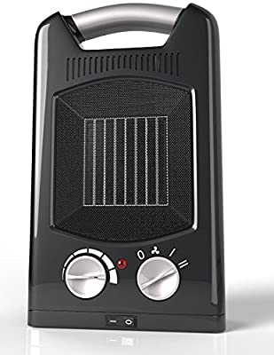 Royal Personal Ceramic Heater [1500W] - 3 Adjustable Settings With Oscillation - Portable Electric Space Heater Fan, Maximum Safety With Cool Touch Handle