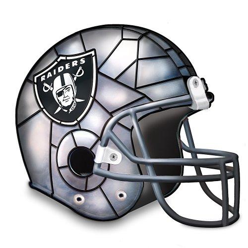 Football Helmet Table Lamp : Nfl oakland raiders accent helmet lamp