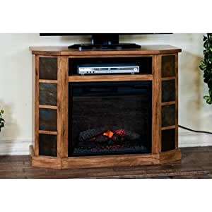sedona 42 tv stand with electric fireplace. Black Bedroom Furniture Sets. Home Design Ideas
