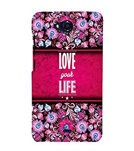 Love Your Life 3D Hard Polycarbonate Designer Back Case Cover for Micromax Canvas Play Q355