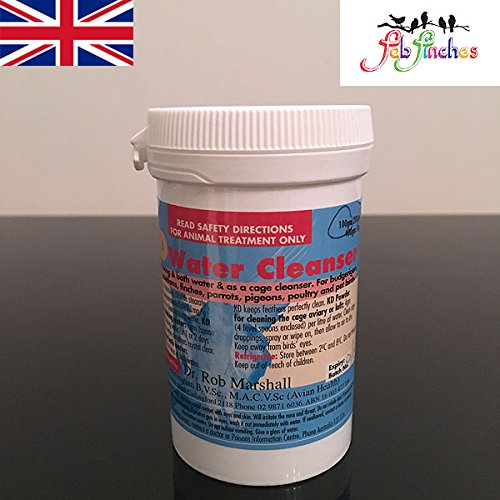 rob-marshall-kd-powder-100g-multipurpose-drinkers-water-cleanser-aviary-cage-birds