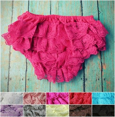 The Hair Bow Company Girls Baby & Toddler Lace Diaper Cover Bloomers 0-3 Yrs)