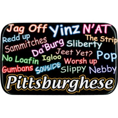 Metal Magnet Pittsburghese from SteelerMania