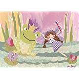 Oopsy daisy The Fairy and The Frog Stretched Canvas Wall Art by Winborg Sisters, 14 by 10-Inch
