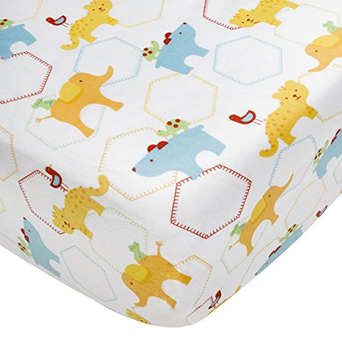 Kidsline Who's At The Zoo Fitted Sheet, Icon Print - 1