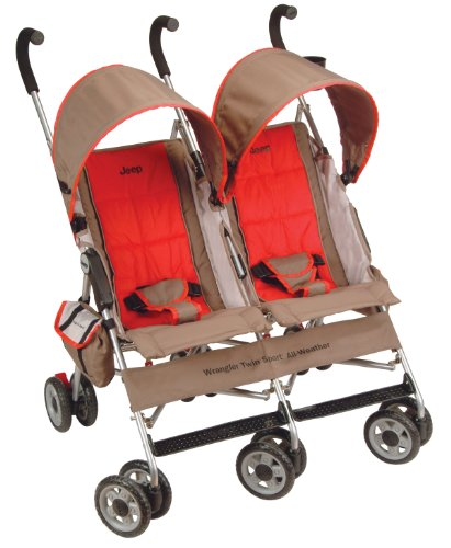 Find Bargain Jeep Wrangler Twin Sport All Weather Stroller, Heat