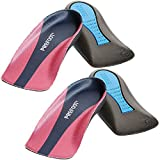 (2 Pairs) Plantar Fasciitis Heel Cup Insoles Women's - Relieves Foot Pain