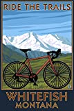 Whitefish, Montana - Ride the Trails (12x18 Collectible Art Print, Wall Decor Travel Poster)