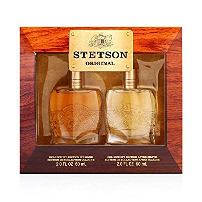 STETSON 2 PC. GIFT SET ( COLOGNE 2.0 oz + AFTERSHAVE 2.0 oz ) by Coty for Men