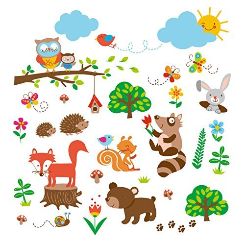 Into the Woods Baby/Nursery Decorative Wall Art Sticker Deca