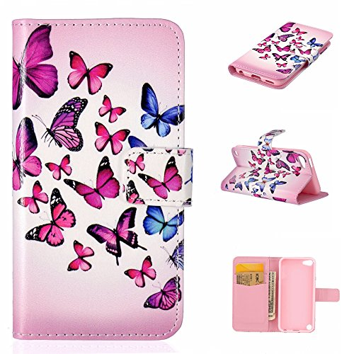 apple-ipod-touch-5th-generation-case-free-screen-protector-boxtiir-premium-pu-leather-wallet-case-wi