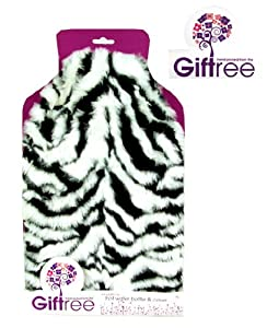 Giftree 2000ml Hot Water Bottle and Cover (Zebra) por Giftree en BebeHogar.com