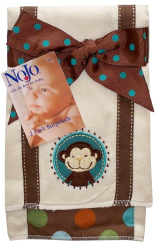 Nojo Jungle Tales 2 Pack Diaper Burpcloth Set