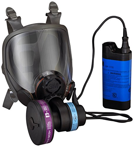 3M Powerflow Face-Mounted Powered Air Purifying Respirator (PAPR), Respiratory Protection 6900PF, NiCd Rechargeable Battery, Large Size (Air Purifying Mask compare prices)