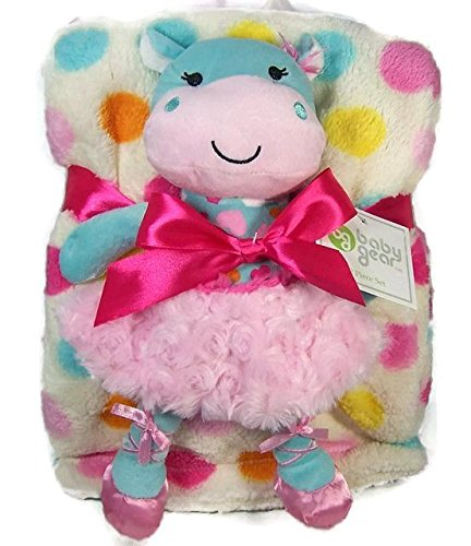 Baby Gear 2 Piece Baby Blanket And Ballerina Cow Cuddle Toy