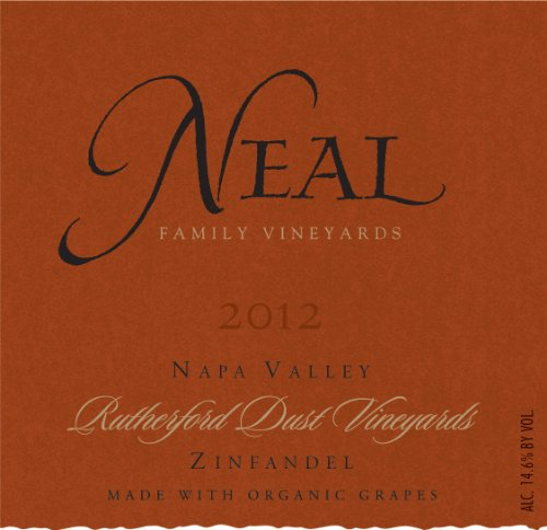2012 Neal Family Vineyards Rutherford Dust Zinfandel (Made With Organic Grapes)