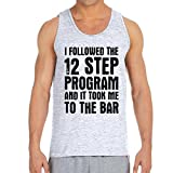 Men's 12 Step Program Ash Grey Tank Top