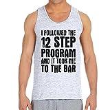 Men's 12 Step Program Ash Grey Tank Top