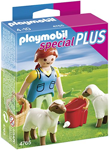 PLAYMOBIL Country Woman with Sheep Feed - 1