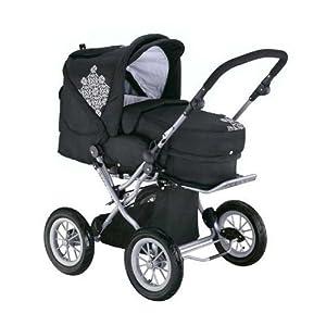 knorr-baby 706930 - Kinderwagen Nizza, black-white