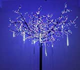 8 Falling Rain Drop/icicle Snow Fall String LED Xmas Tree Cascading Light Decor (white, US plug)