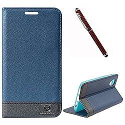 DMG Google Nexus 5 Flip Cover, DMG PRaiders Premium Magnetic Wallet Stand Cover Case for Google Nexus 5 (Pebble Blue) + 4in1 Laser Torch Stylus Pen