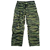 Mens Pants - Vintage Vietnam Era 6Pkt Fatigues Tiger Stripe by Rothco