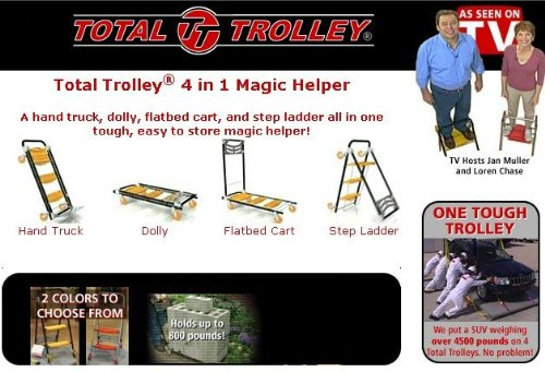 Total Trolley 4in1 Moving Dolly Cart Ladder Hand Truck