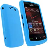 IGadgitz Blue Silicone Skin Case Cover for BlackBerry Storm 2 9550 / 9520 + Screen Protector