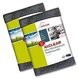 ALCLEAR 820901M 2er Set Ultra-Microfasertuch Trockenwunder Maxi - perfekt für Auto und Motorrad - 80 x 55 cm