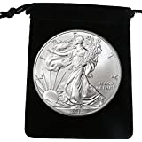 2015 American Eagle (1 oz Silver) in Black Velveteen Bag Dollar Uncirculated US Mint