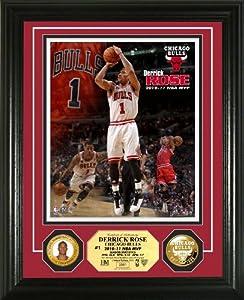 NBA Derrick Rose 2010-11 MVP 24KT Gold Coin Photo Mint by Highland Mint