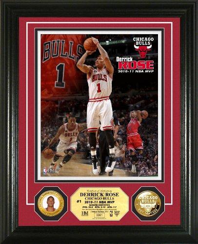 NBA Derrick Rose 2010-11 MVP 24KT Gold Coin Photo Mint Highland Mint Photomints autotags B004Z4HT2O