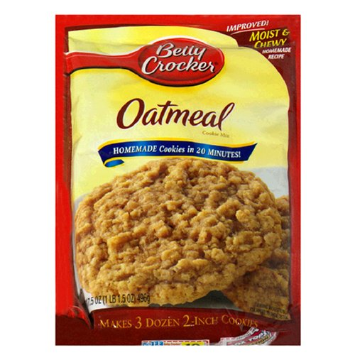 Betty Crocker Cookie Mix, Oatmeal, 17.5-Ounce Pouches (Pack of 12) by Betty Crocker