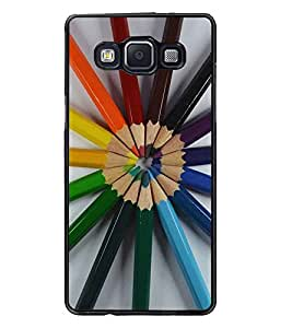 PrintDhaba Colour Pencils D-2239 Back Case Cover for SAMSUNG GALAXY E5 (Multi-Coloured)