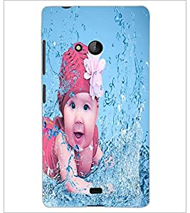 PrintDhaba Cute Baby D-2817 Back Case Cover for MICROSOFT LUMIA 540 (Multi-Coloured)