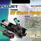 RV Macerator Pump Septic Tank Dump Pump Portable RV Waste Pump (Storage Case Included)