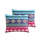 4-Piece-Purple-Red-Southwestern-Comforter-Twin-XL-Set-Indie-Hippie-Themed-Bedding-Native-Tribal-Stripes-Pattern-Hippy-Style-Southwest-Design-Multi-Color-Teal-Burgundy-Bohemian-Soul-Spirit