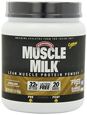CytoSport Muscle Milk Lean Muscle Protein Powder, Chocolate, 1 Pound