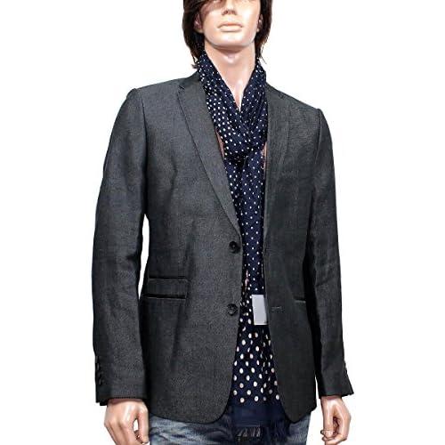 ck Calvin Klein(カルバンクライン)麻100% リネン 二つボタン テーラードジャケット グレー/10012880 Mサイズ [並行輸入品]