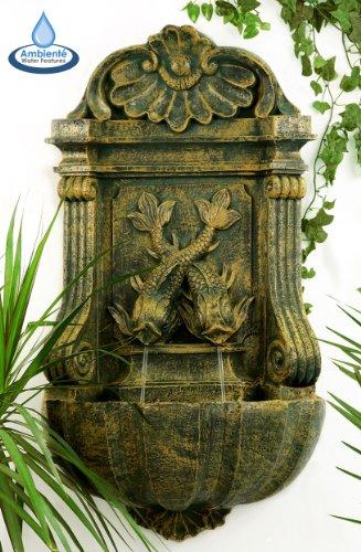 Ambiente Verdi Wall Fountain - Aged Verdegris