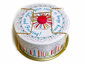 Glitterville Vintage Style Tin Birthday Cake Carrier