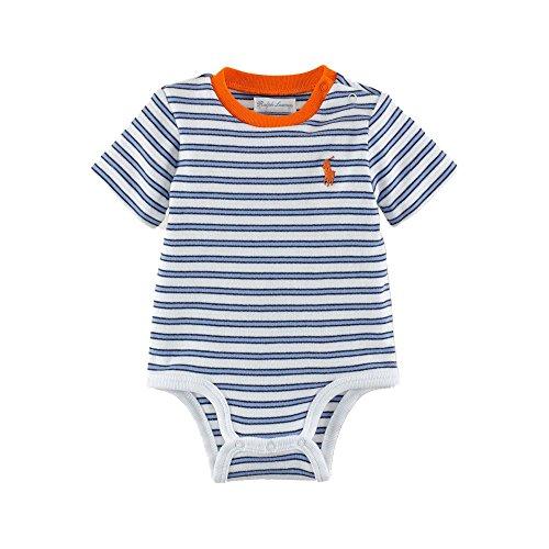 Ralph Lauren Cotton Jersey Bodysuit White Multi Stripe (9 Months) front-993600