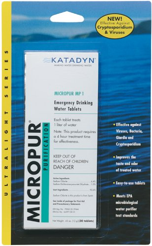 Katadyn Micropur MP1 Purification Tablets (20 count) (Dioxide Chlorine compare prices)