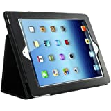 Kolay Black iPad 2 Leather Case & Screen Protector Kit for New Apple iPad 2 (2nd Generation)